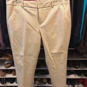 Women's size 16 beige patterned ankle pants